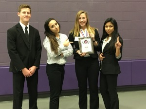 Joey Huberts, Christina Randall, Jenilee Smith and Rosie Maharjan make up the Global Marketing Team.