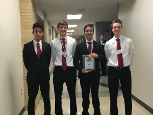 Travis Livermore, Ethan Shepherd, Andrew Rattin and Ian Elliott make up the Small Business Management Team.