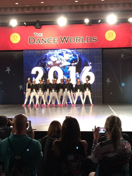 The team competes on the Dance Worlds stage going against over 45 teams.