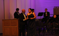 Emily Larmore receives the Outstanding Wind Player Award for Wind Ensemble.