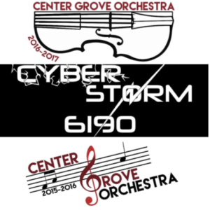 Pictured are some orchestra and robotics logos that junior Zach Schneider has designed.