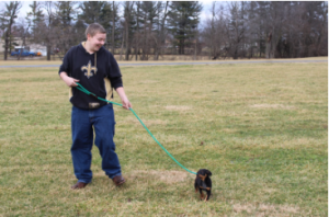 """""""I really connected with one of the dogs that was there. His name was Ed, and he was adopted shortly after our visit,"""" Isaiah Vaught said."""